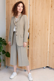 Комплект брючный Мода-Юрс 2659 светлый хаки