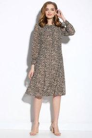 Платье Gizart 7130к-1 коричневые тона
