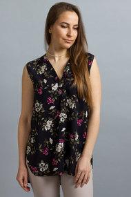 Блузка Mirolia 897 черный с цветами