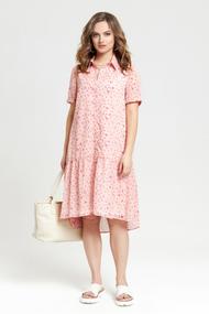 Платье TEZA 2370 розовые тона