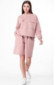 Комплект с шортами Anelli 1012 Розовые тона