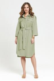 Платье TEZA 2380 зеленые тона