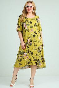 Платье Mamma moda м-680 салатовые тона