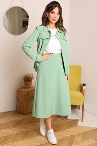 Комплект юбочный Мода-Юрс 2660 светло-зеленый