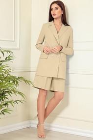 Комплект с шортами Andrea Fashion AF-136 Бежевый