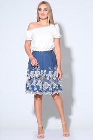 Комплект юбочный Axxa 26109 Белый и голубой