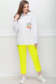 Комплект брючный Миа Мода 21194 лимон с белым