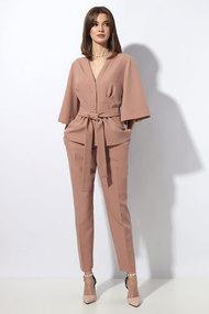 Комплект брючный Миа Мода 1258 оранжево-бежевый
