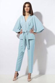 Комплект брючный Миа Мода 1258-1 светло-голубой