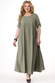 Платье Algranda 3730-2 хаки