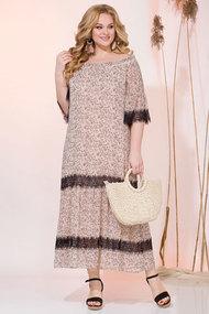 Платье Лилиана 932N бежевые тона