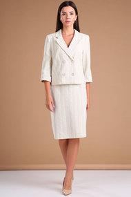Комплект юбочный Viola Style 2666 бежевый в полоску