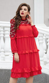Платье Vittoria Queen 14713 красный