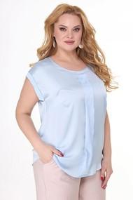 Блузка Anelli 304 голубые тона