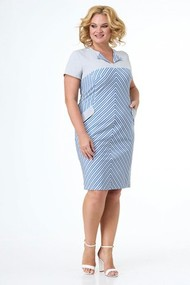 Платье Anelli 205-3 голубая полоска