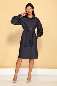 Платье Juliet Style D218 темно-синий