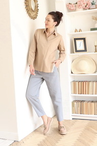 Блузка Juliet Style D193-2 бежевый