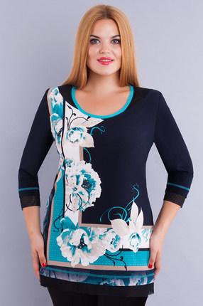Блузка Дали 233 темно-синий фото