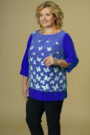 Блузка AVLINE 1772 синий фото