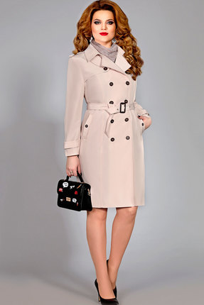 Плащ Mira Fashion 4391 бежевый фото