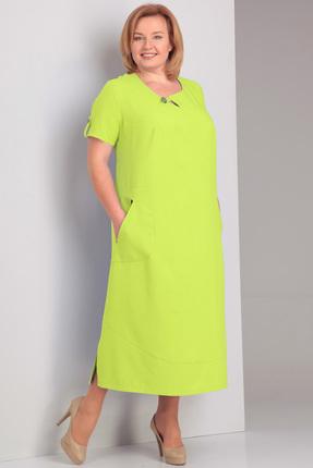 Платье Algranda 2919-1 желто-салатовые тона