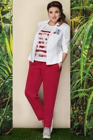 Комплект брючный Elady 2754 красный с белым