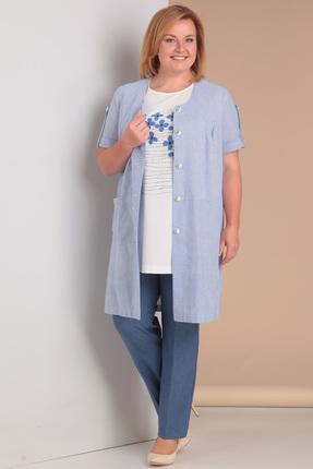 Комплект брючный Algranda 2977/1 сине-голубые тона фото