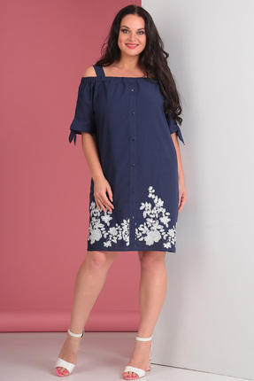 Платье Тэнси 245 синий фото